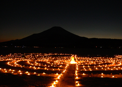 Ice Candles and Mt. Fuji